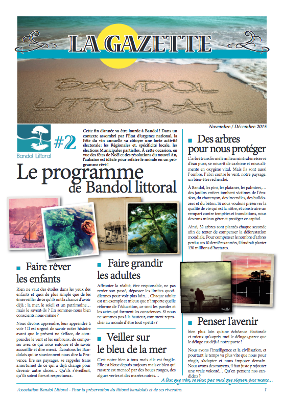 Gazette bandol littoral 2